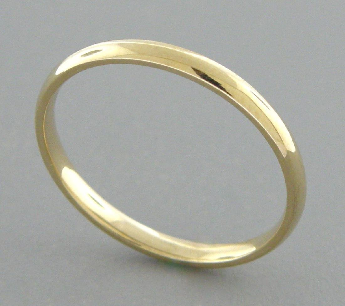 14K YELLOW SOLID GOLD 2MM COMFORT BAND WEDDING RING 7