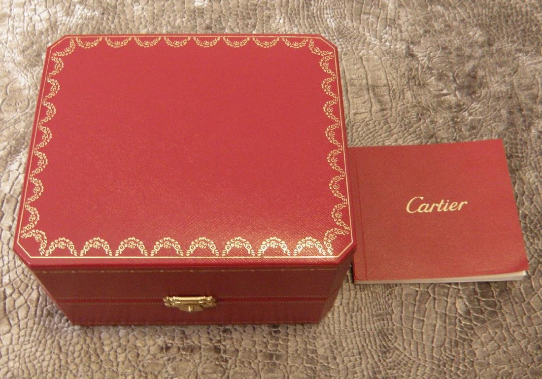 CARTIER BOX FOR TRAVEL CLOCK BLACK SUEDE PAPERWORK