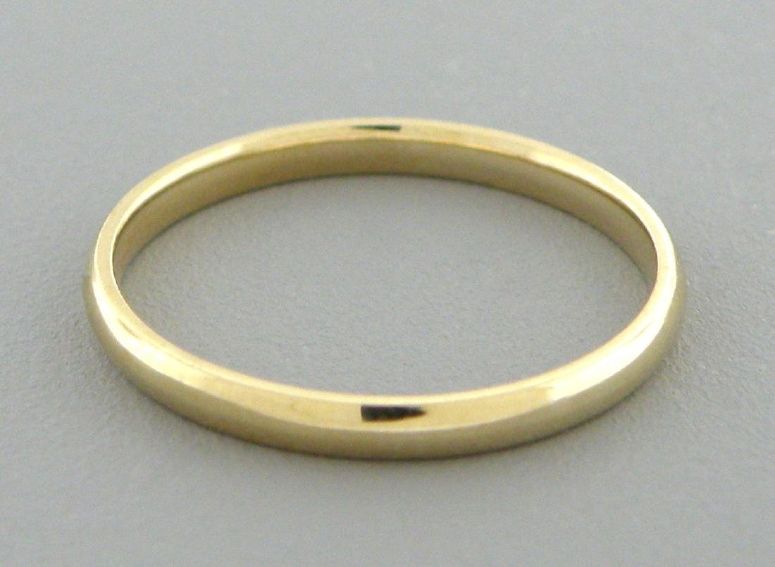 14K YELLOW SOLID GOLD 2MM COMFORT BAND WEDDING RING 4