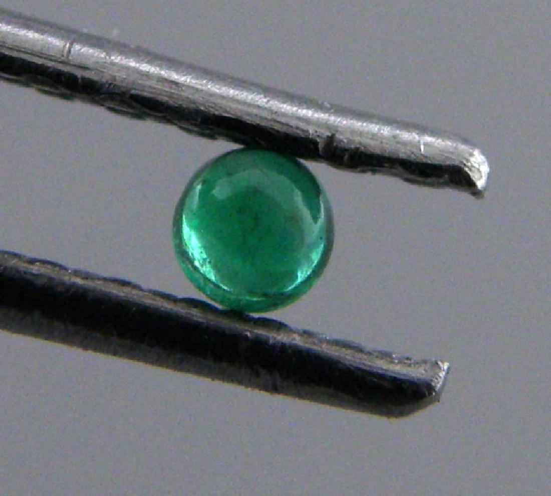 3.4mm ROUND CABOCHON NATURAL COLOMBIAN EMERALD