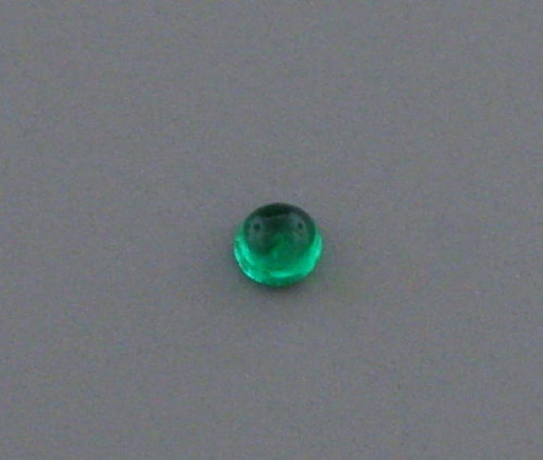 2.8mm ROUND CABOCHON NATURAL COLOMBIAN EMERALD