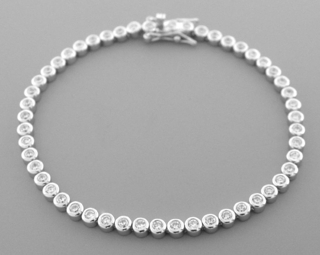 NEW STERLING SILVER CZ LADIES TENNIS BRACELET