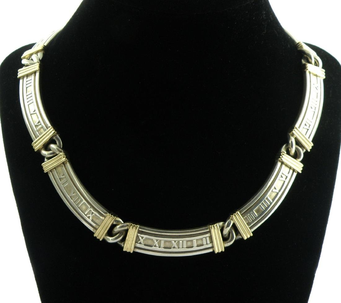 TIFFANY & Co. 18K GOLD STERLING SILVER ATLAS NECKLACE