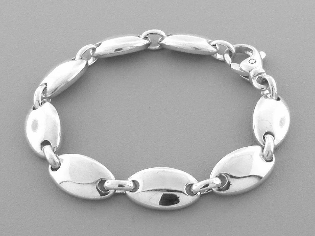 TIFFANY & Co. STERLING SILVER PEBBLE LINK BRACELET - 2