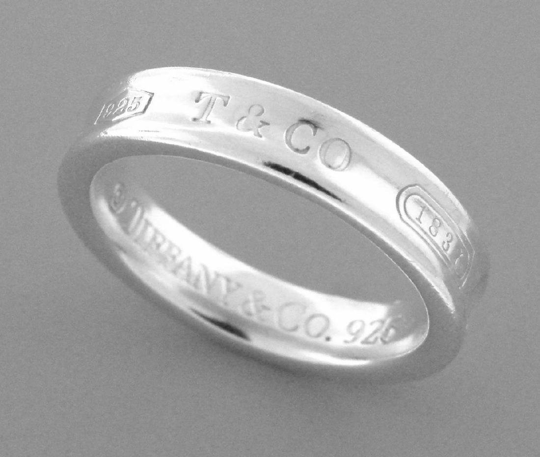 TIFFANY & Co. STERLING SILVER THIN 1837 RING BAND