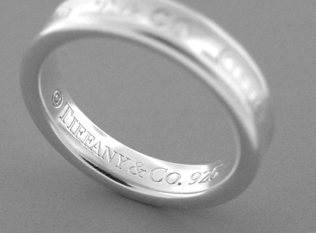 TIFFANY & Co. STERLING SILVER THIN 1837 RING BAND - 2