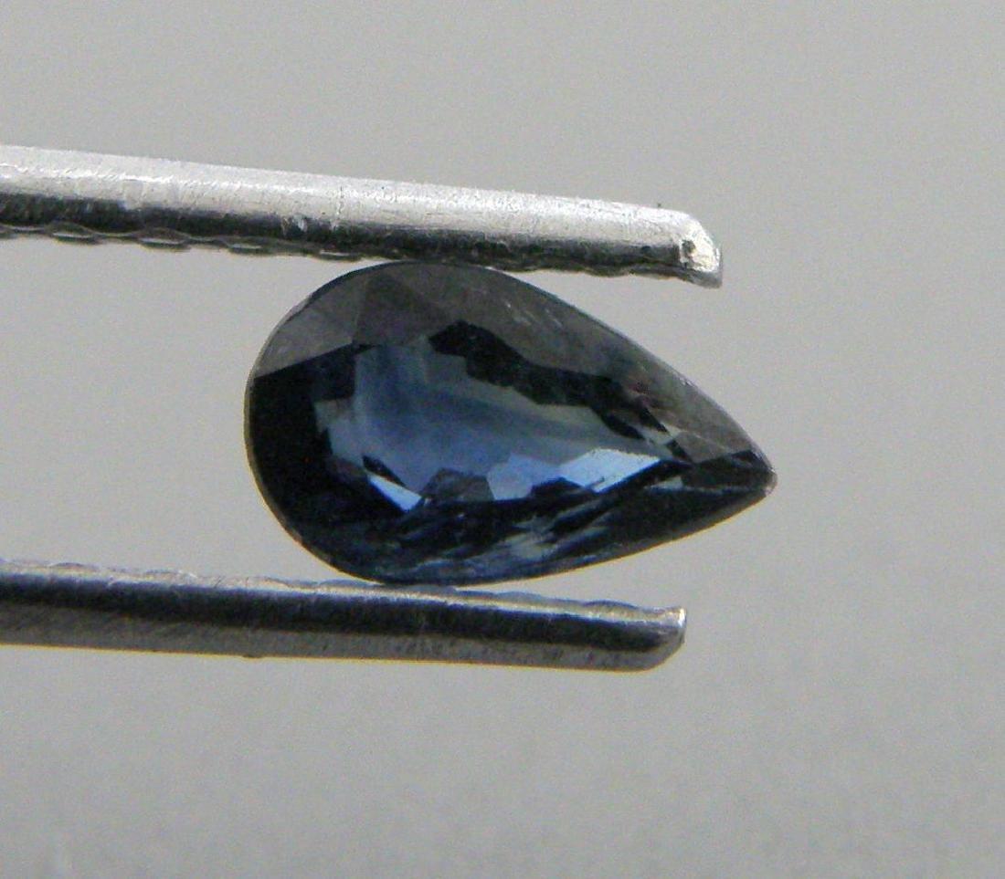 5x3mm PEAR SHAPE LOOSE NATURAL BLUE SAPPHIRE