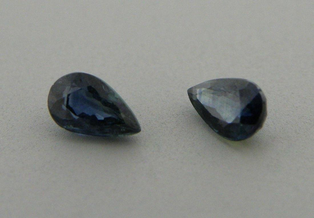 5x3mm MATCHING PAIR PEAR SHAPE NATURAL BLUE SAPPHIRE