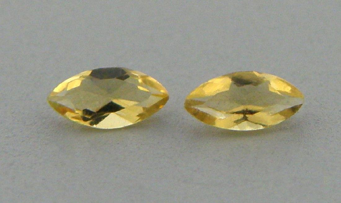 10x5mm MATCHING PAIR LOOSE NATURAL MARQUISE CITRINES