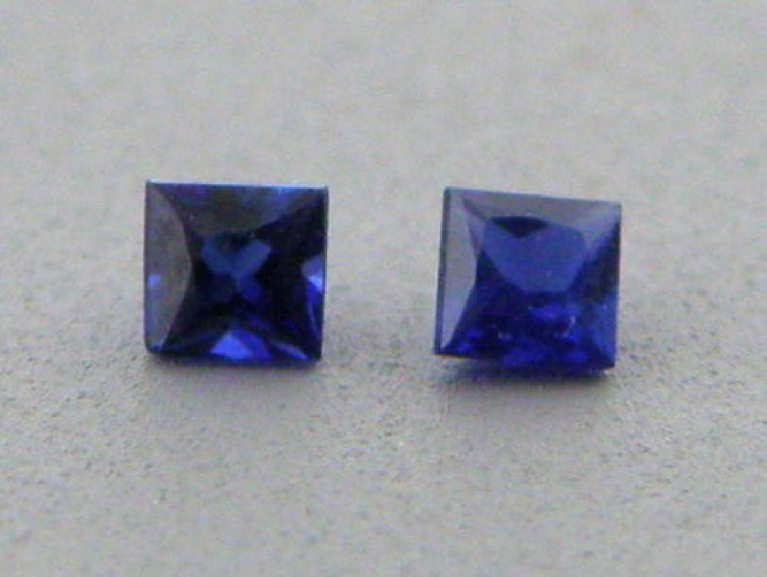 3.4mm PRINCESS CUT NATURAL BLUE SAPPHIRE