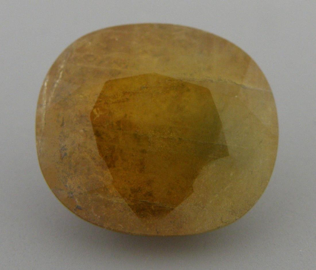 16.76ct LOOSE OVAL CUT NATURAL UNHEATED HONEY SAPPHIRE