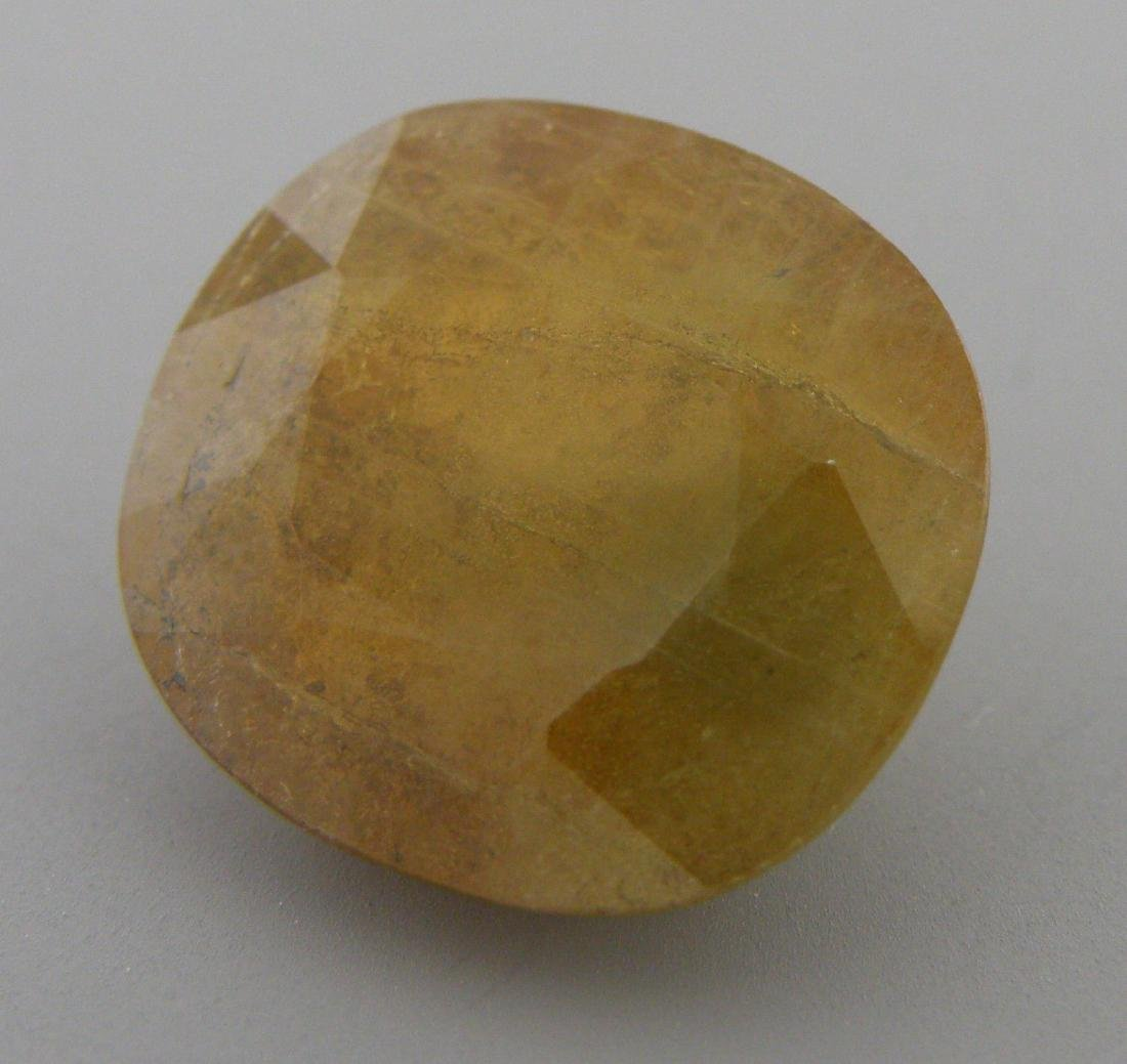 16.76ct LOOSE OVAL CUT NATURAL UNHEATED HONEY SAPPHIRE - 2