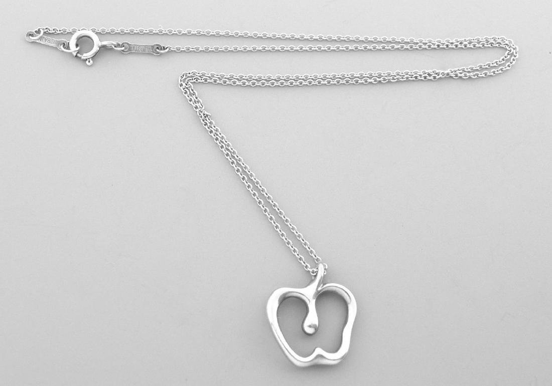 TIFFANY & Co. STERLING SILVER APPLE PENDANT NECKLACE - 2