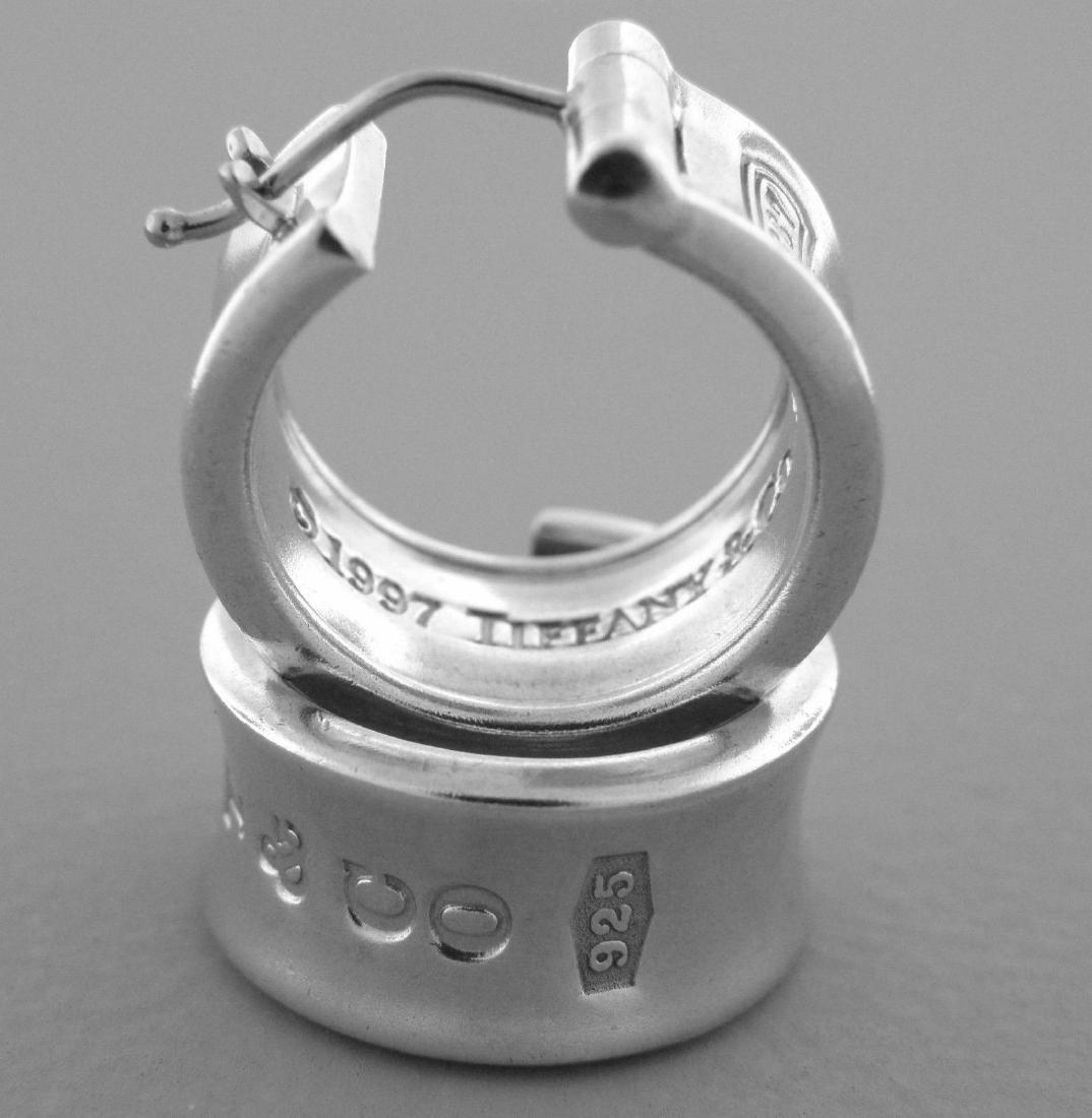 8acd6e399 TIFFANY & Co. STERLING SILVER LADIES 1837 HOOP EARRINGS - Oct 28 ...
