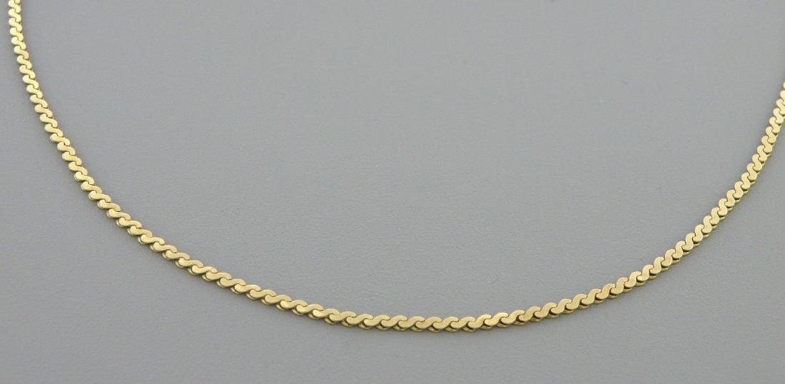"VINTAGE 14K YELLOW GOLD S LINK, 25"" NECKLACE CHAIN 8.1g - 2"