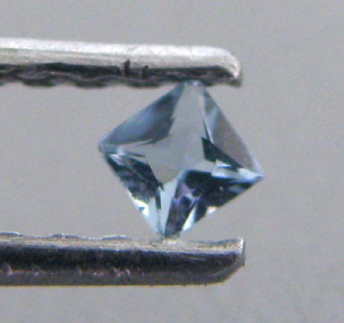5mm PRINCESS CUT NATURAL UNTREATED BLUE AQUAMARINE