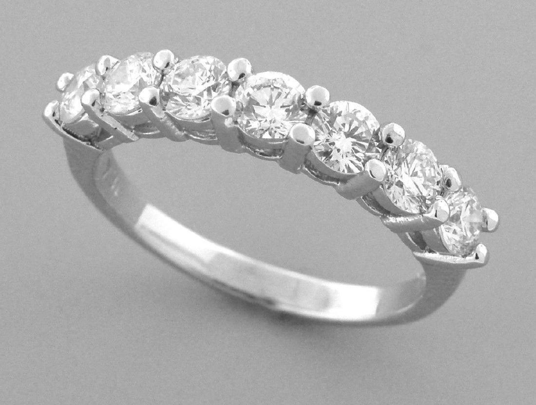 PLATINUM DIAMOND 7 STONE WEDDING BAND RING 1.75ct - 2