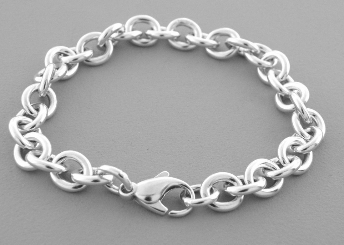 AUTHENTIC TIFFANY & Co. STERLING SILVER CHARM BRACELET