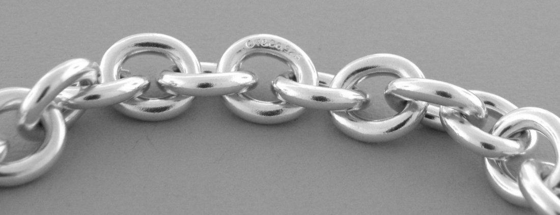 AUTHENTIC TIFFANY & Co. STERLING SILVER CHARM BRACELET - 2