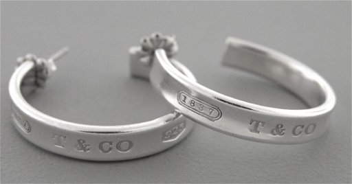 890e67b60 TIFFANY & Co. STERLING SILVER LADIES 1837 HOOP EARRINGS. placeholder. See  Sold Price