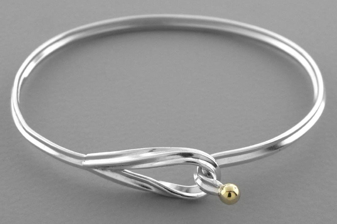 996a00ca5 TIFFANY & Co. 18K GOLD STERLING SILVER HOOK EYE BANGLE - Mar 03, 2019 |  Modern Jewelry in CA