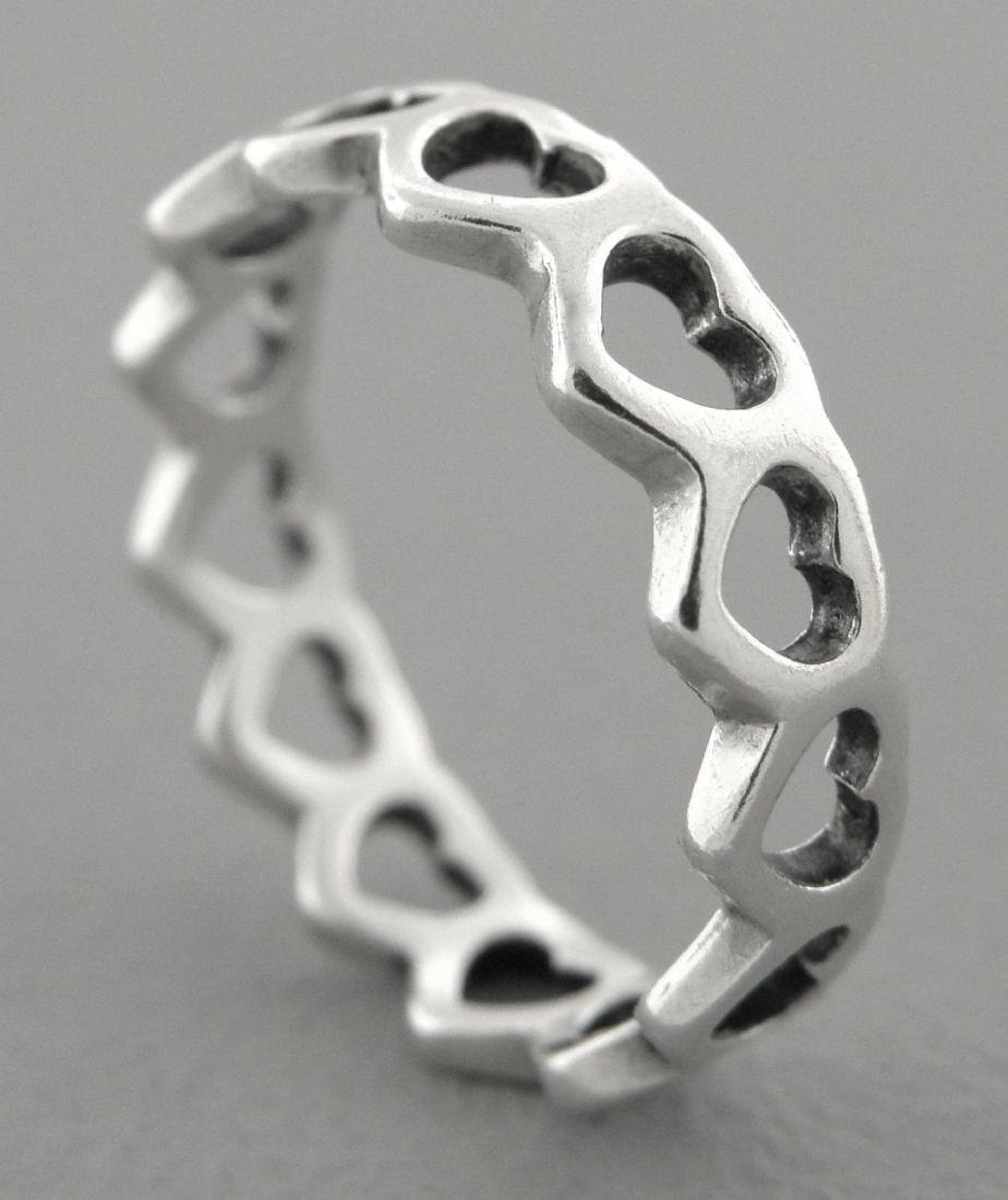 JAMES AVERY STERLING SILVER ETERNITY HEART BAND RING
