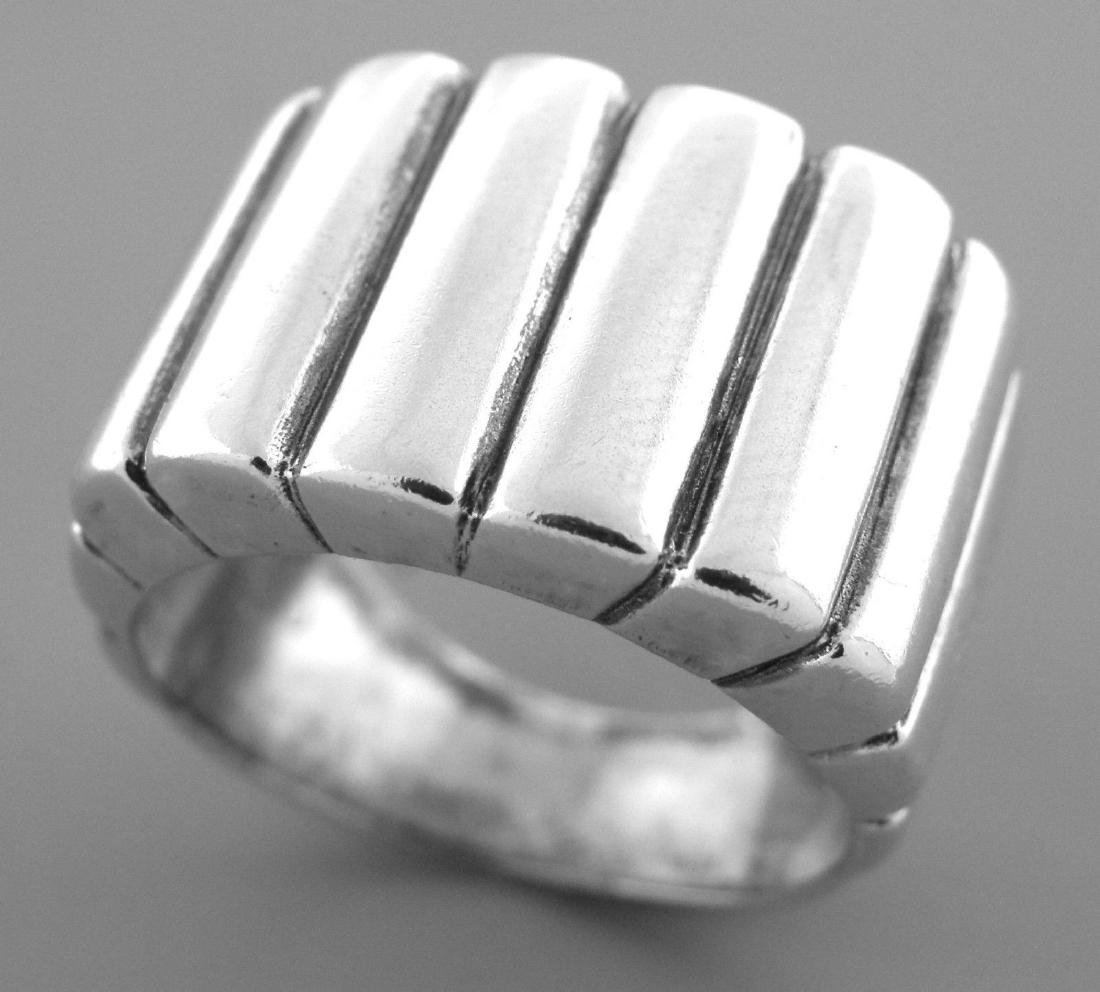 VINTAGE JAMES AVERY STERLING SILVER CIGAR BAND RING - 2