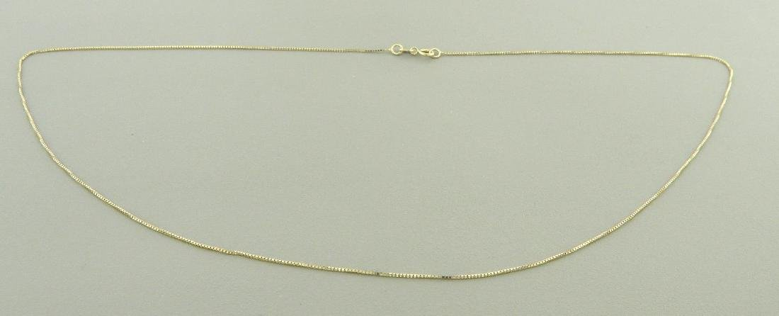 """NEW 14K YELLOW GOLD BOX CHAIN, 18"""" NECKLACE - 2"""