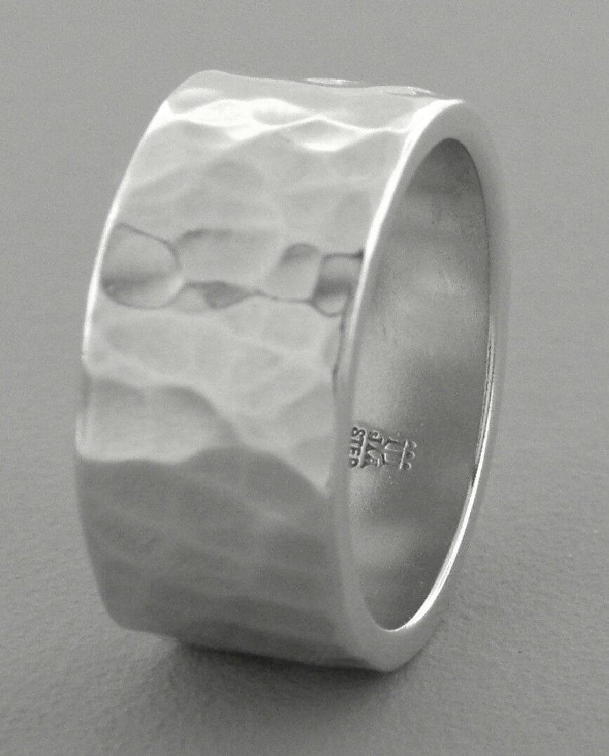 JAMES AVERY STERLING SILVER 9.5mm HAMMERED WEDDING BAND