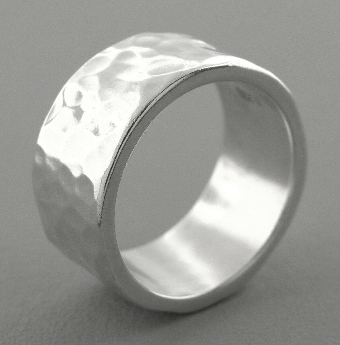 JAMES AVERY STERLING SILVER 9.5mm HAMMERED WEDDING BAND - 2