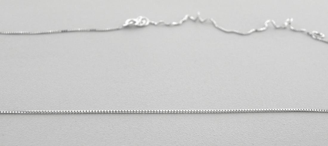 "NEW 14K WHITE GOLD BOX CHAIN, 18"" NECKLACE"