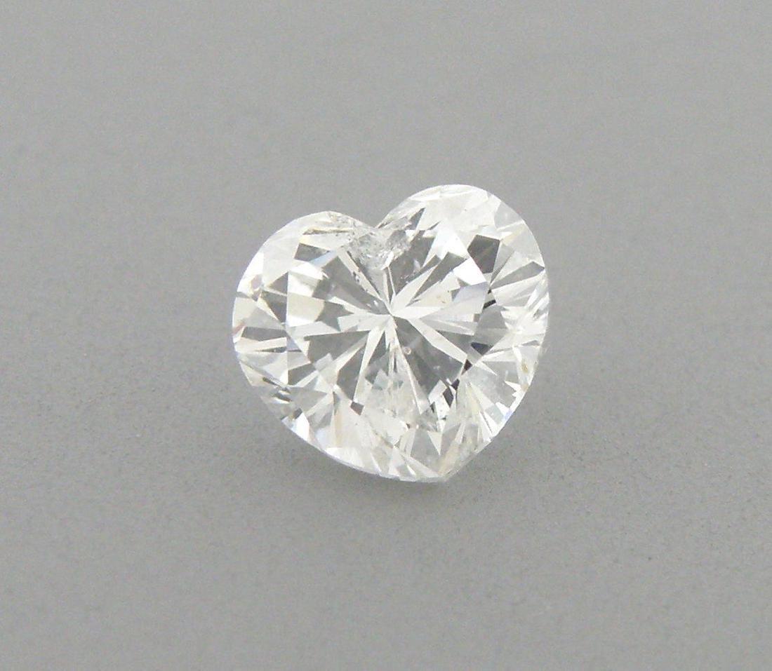 EGL 1.01ct LOOSE NATURAL UNTREATED HEART DIAMOND G SI3 - 2