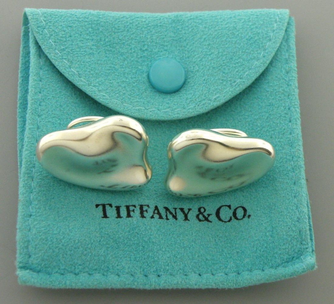 TIFFANY & Co. STERLING SILVER FULL HEART EARRINGS
