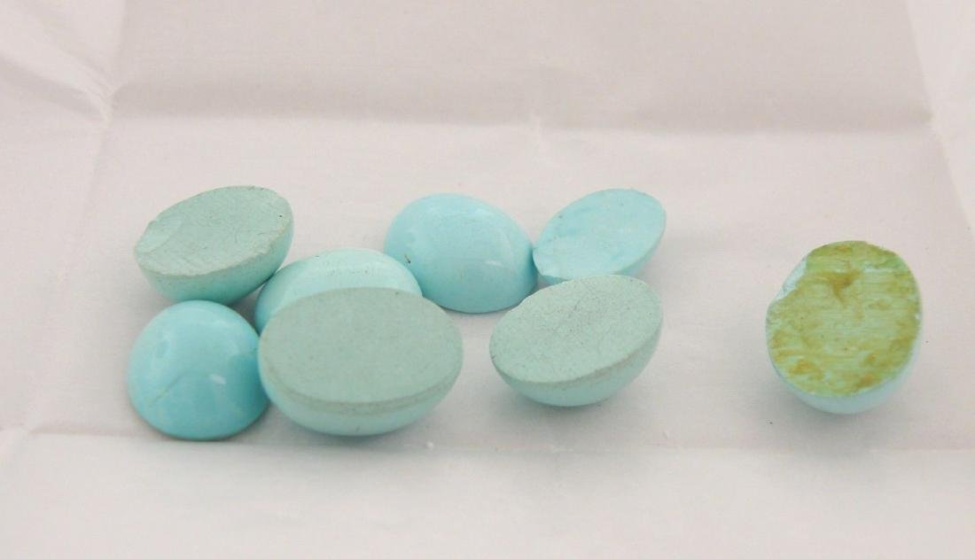 LOT NATURAL TURQUOISE OVAL CUT CABOCHON 54.53ct - 2