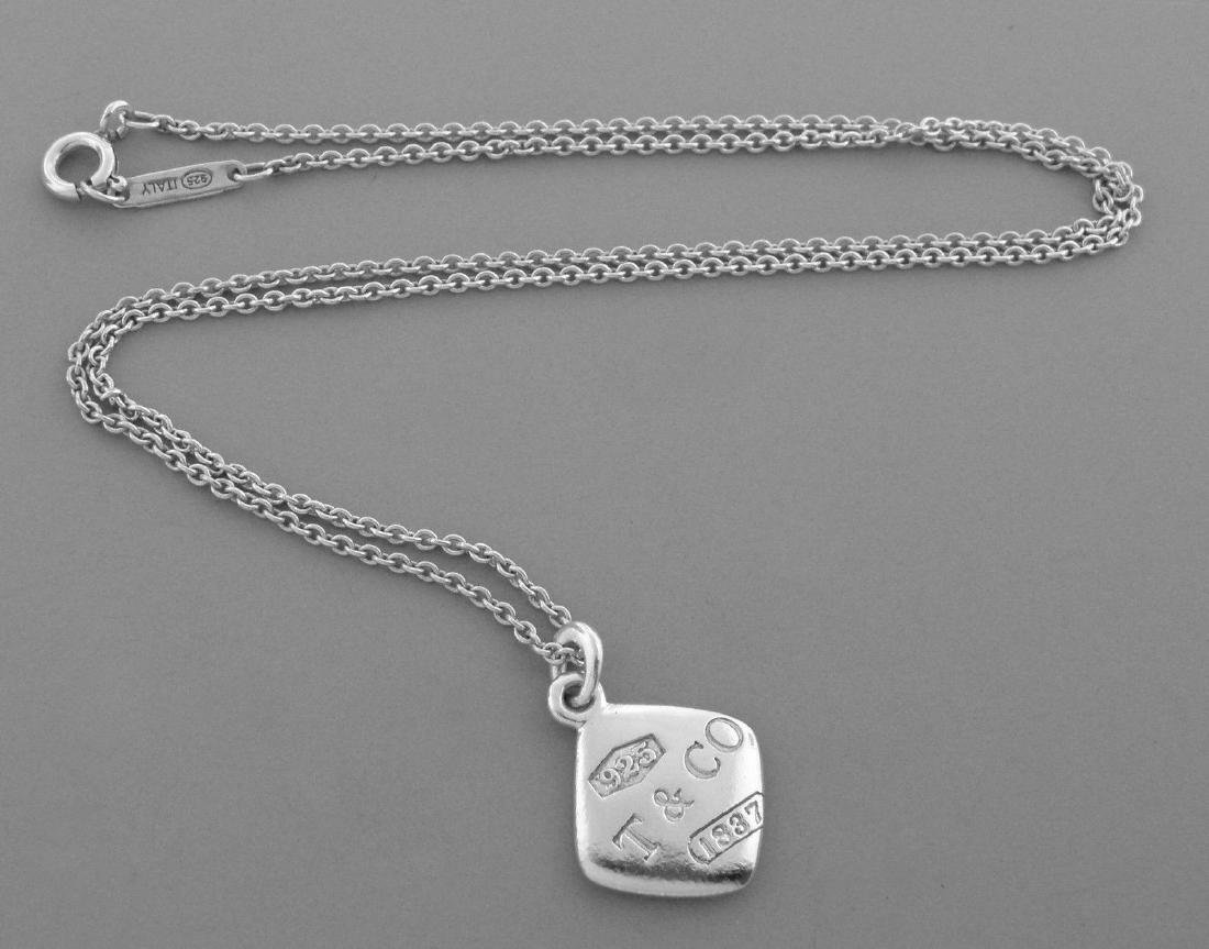 TIFFANY & Co. STERLING SILVER 1837 SQUARE NECKLACE