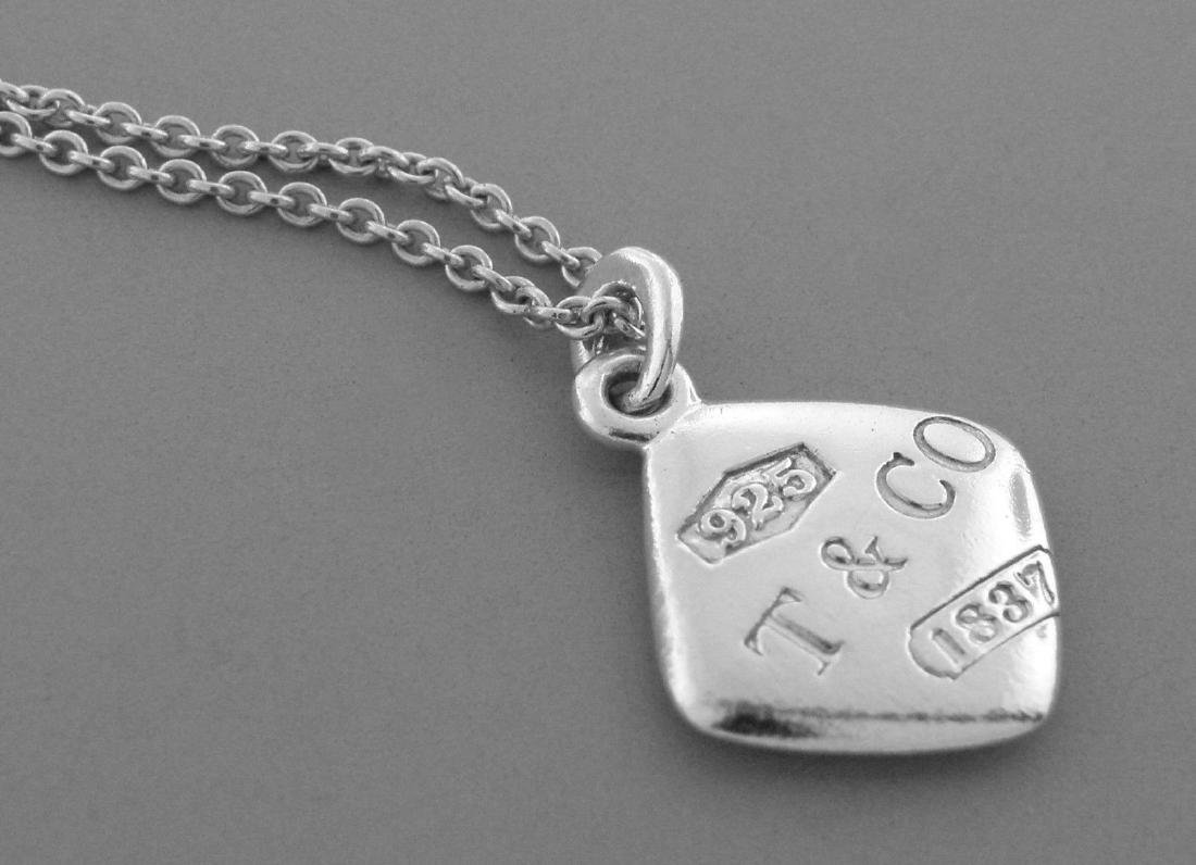 TIFFANY & Co. STERLING SILVER 1837 SQUARE NECKLACE - 2