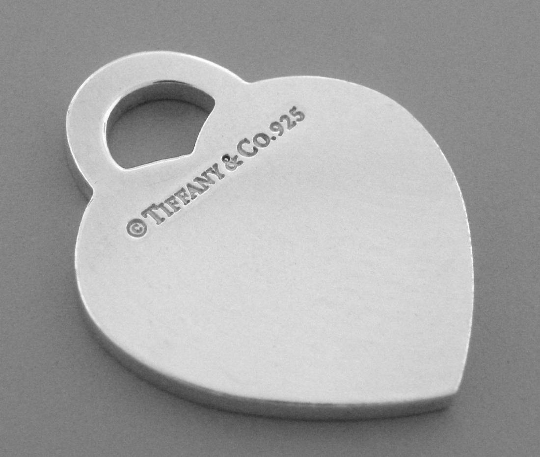 TIFFANY & Co. STERLING SILVER RETURN TO. HEART PENDANT - 2
