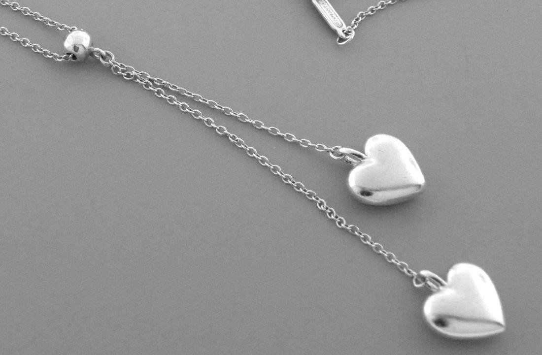 TIFFANY & Co. STERLING SILVER DOUBLE HEART NECKLACE