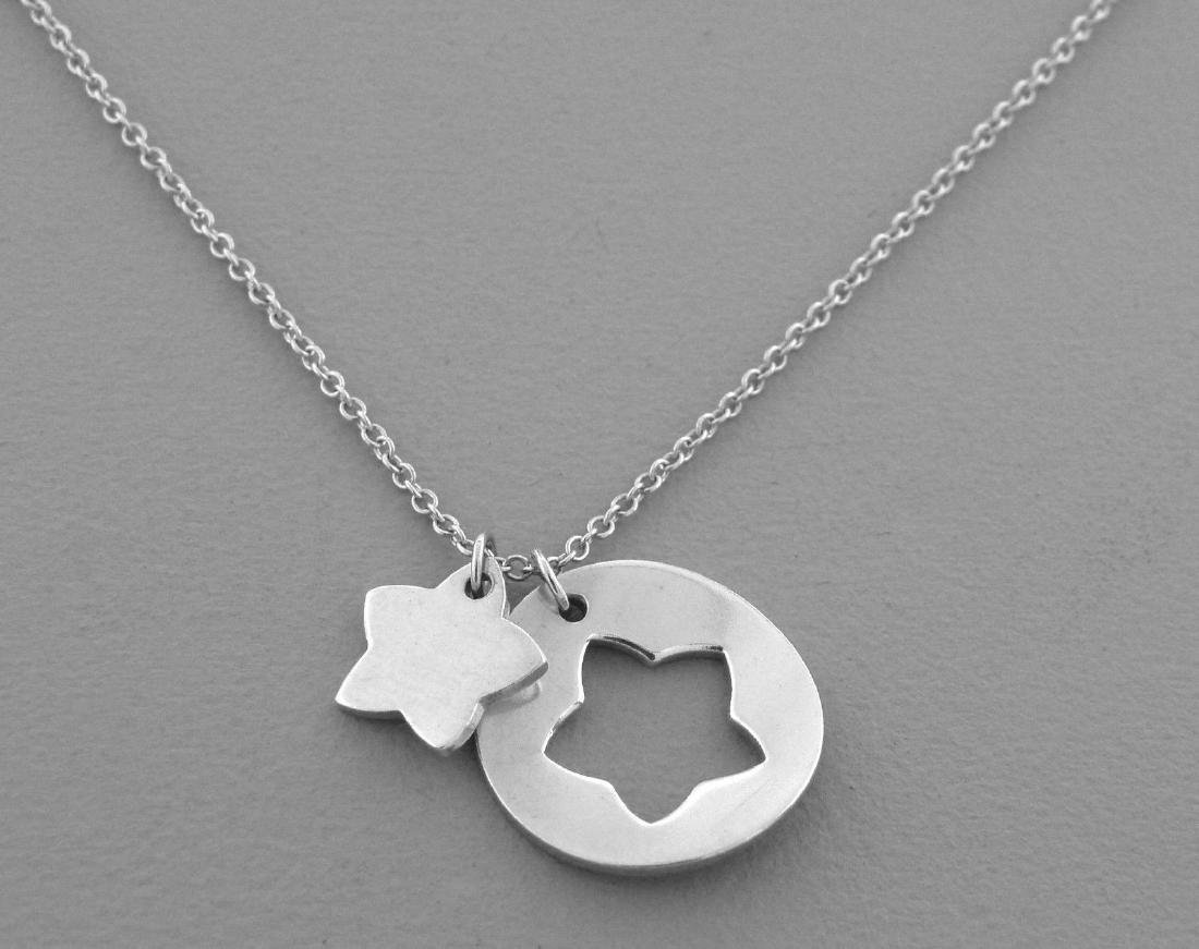 TIFFANY & Co. STERLING SILVER STAR STENCIL NECKLACE