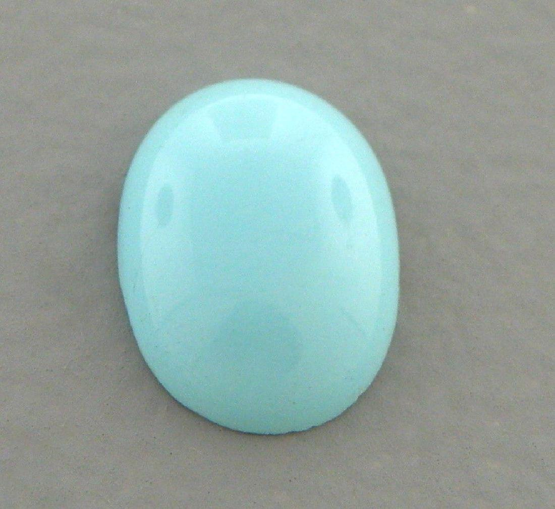 3.58ct NATURAL 14x10mm CABOCHON OVAL PERSIAN TURQUOISE