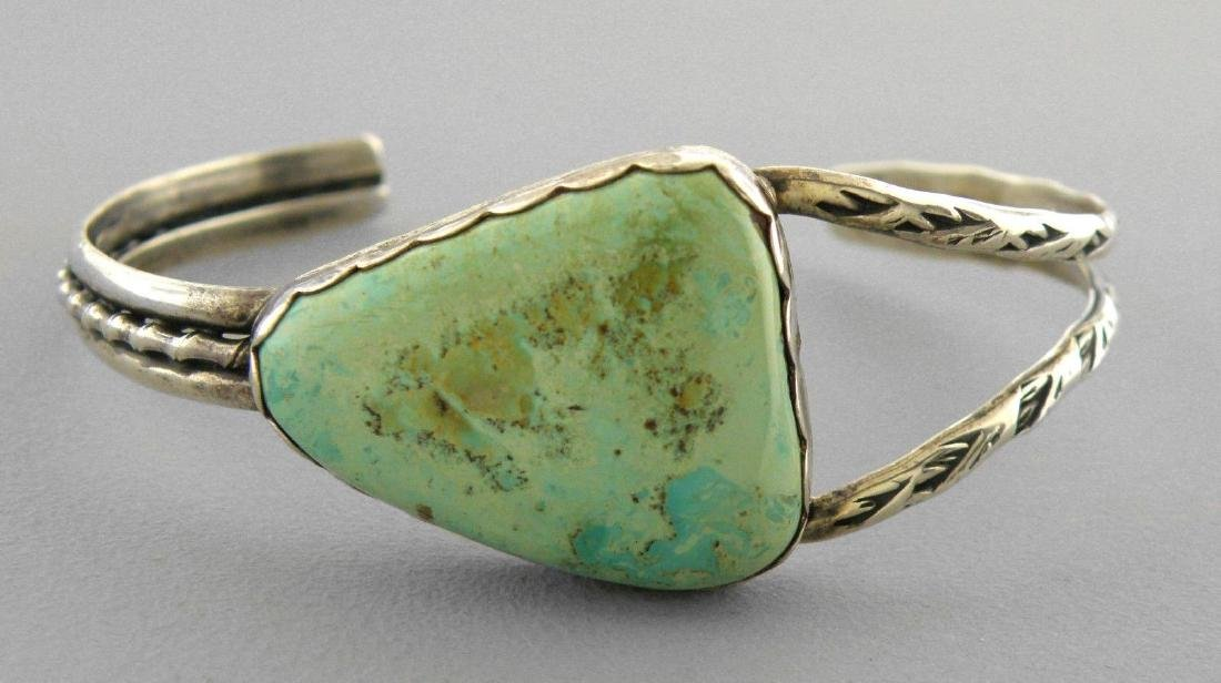 VINTAGE NAVAJO STERLING ROYSTON TURQUOISE CUFF