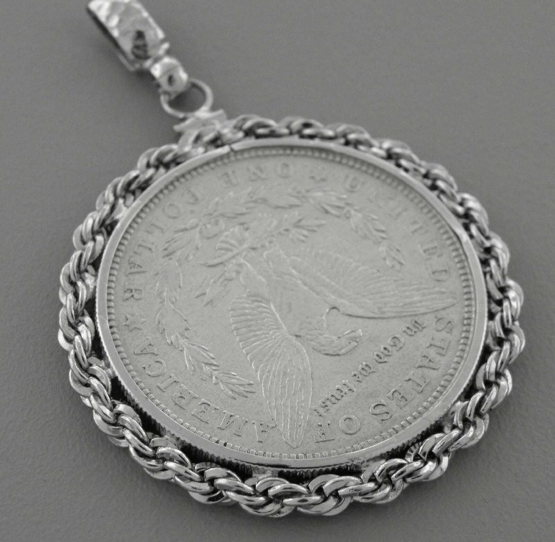 VINTAGE 1921 DOLLAR COIN SILVER PENDANT - 2
