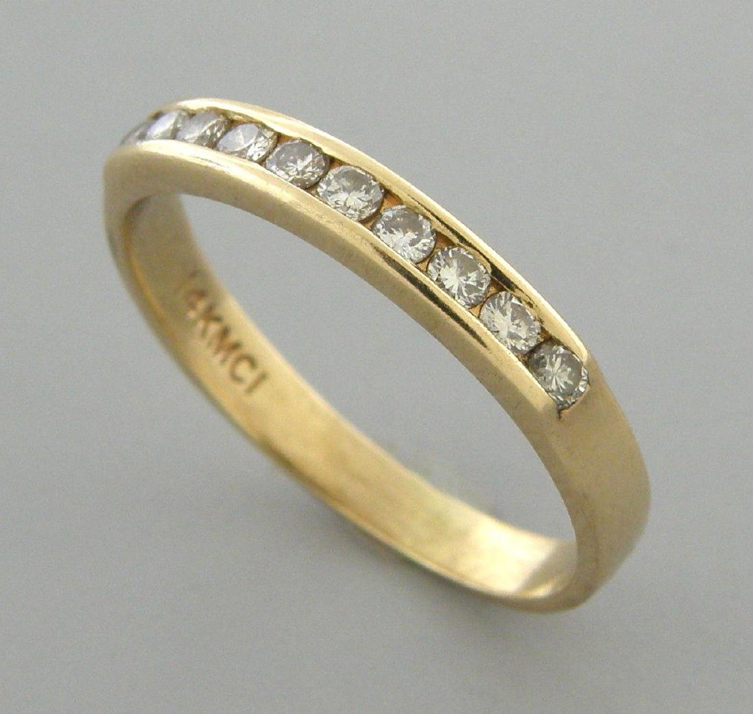 14K YELLOW GOLD LADIES DIAMOND RING WEDDING BAND 0.25ct