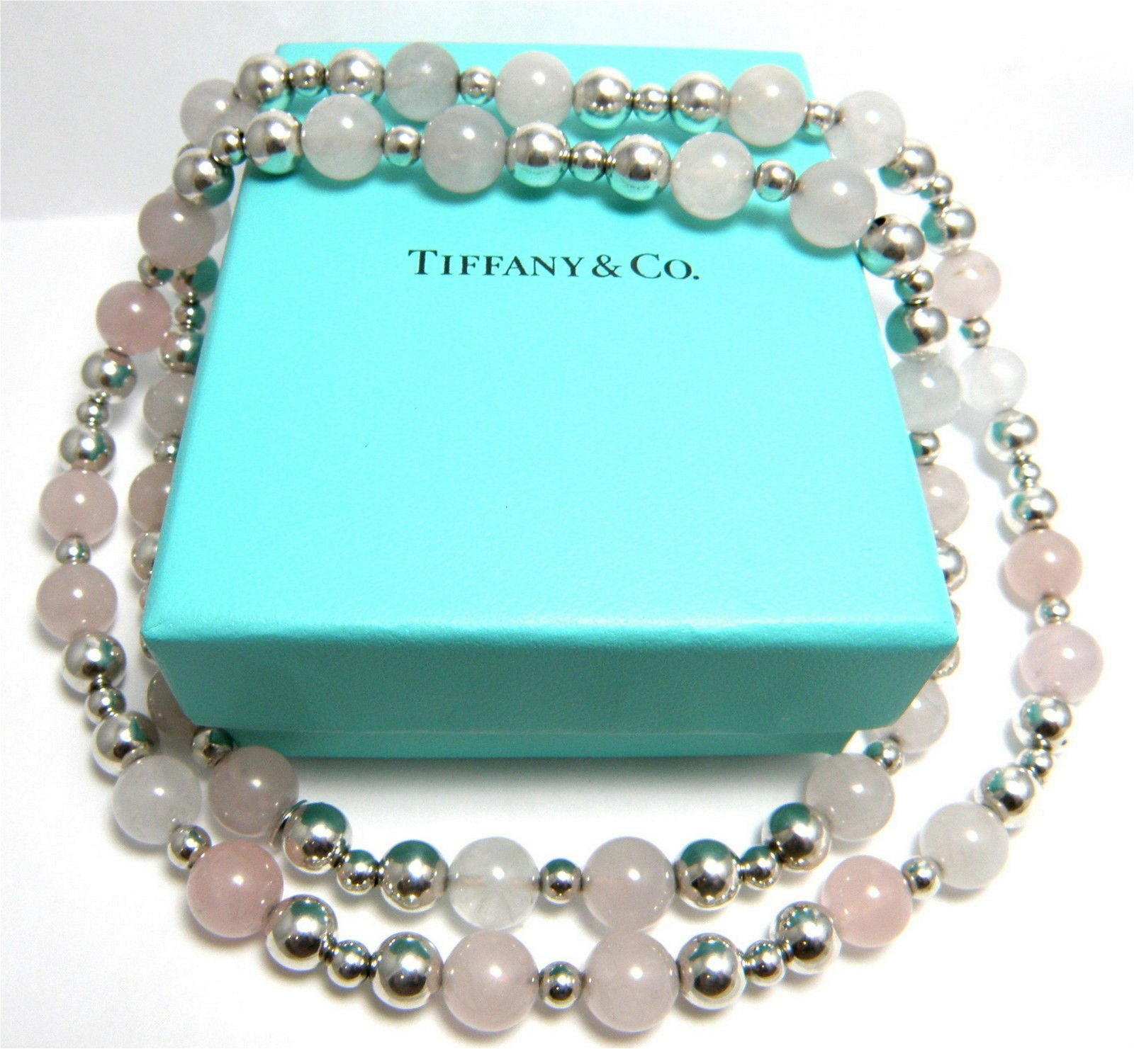 TIFFANY & Co. STERLING SILVER LADIES QUARTZ NECKLACE