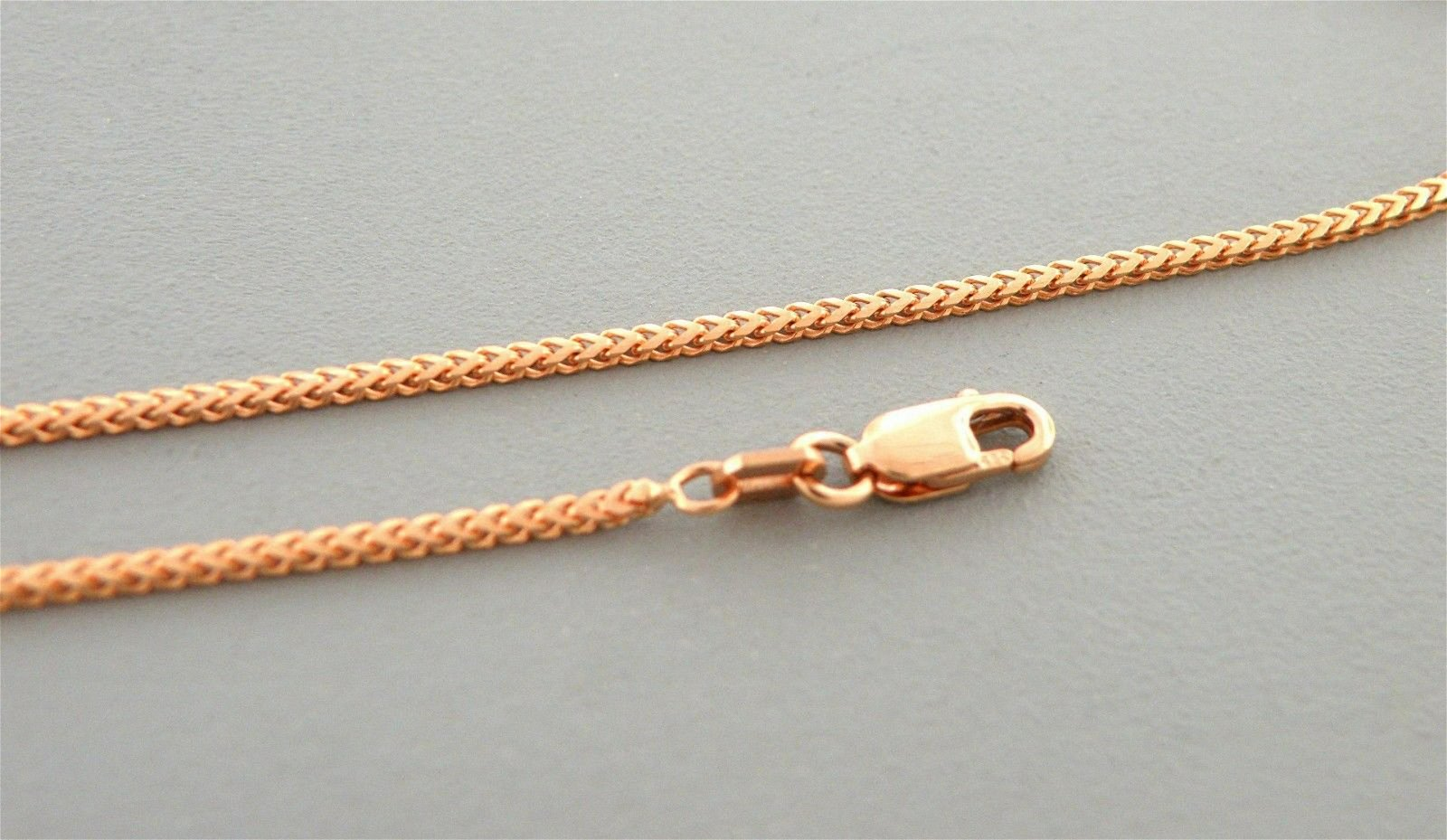 """NEW 14K ROSE GOLD SOLID FRANCO CHAIN NECKLACE 1mm - 18"""""""