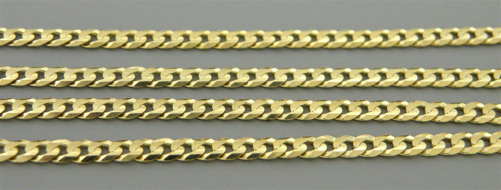 """14K YELLOW GOLD CHAIN, 18"""" UNISEX CURB NECKLACE 3mm"""