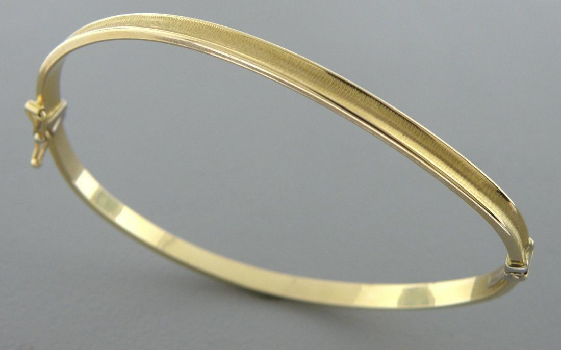 NEW 14K YELLOW GOLD LADIES TWIST BANGLE BRACELET ITALY