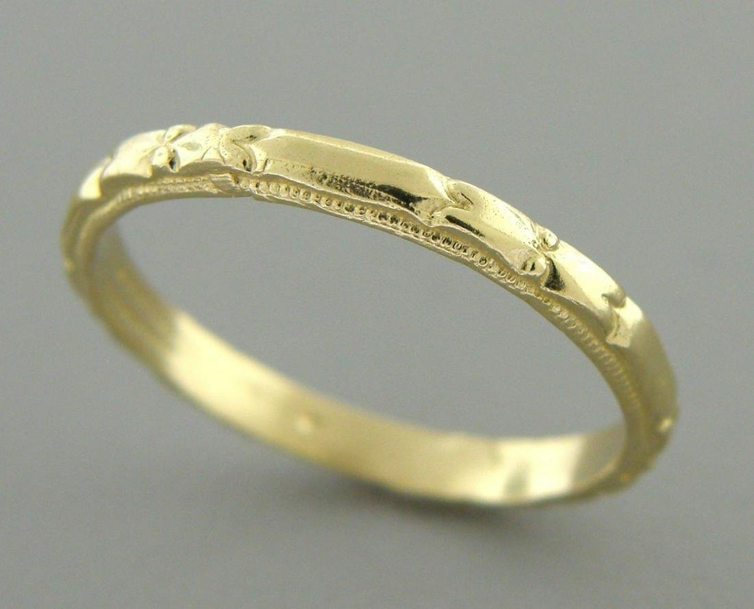 14K Y/ GOLD RING ETERNITY WEDDING BAND RING SIZE 5