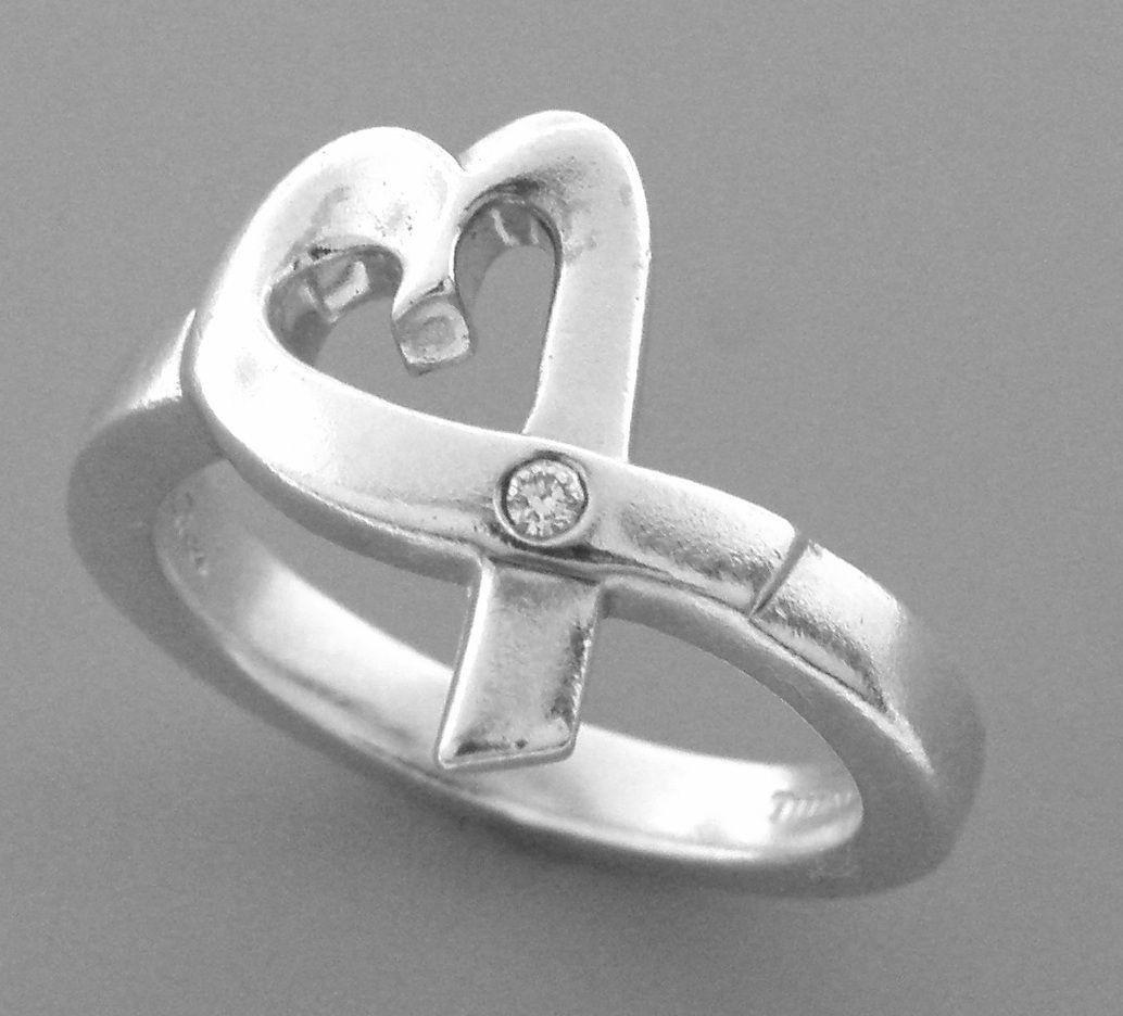 TIFFANY & Co. STERLING SILVER LOVING HEART RING