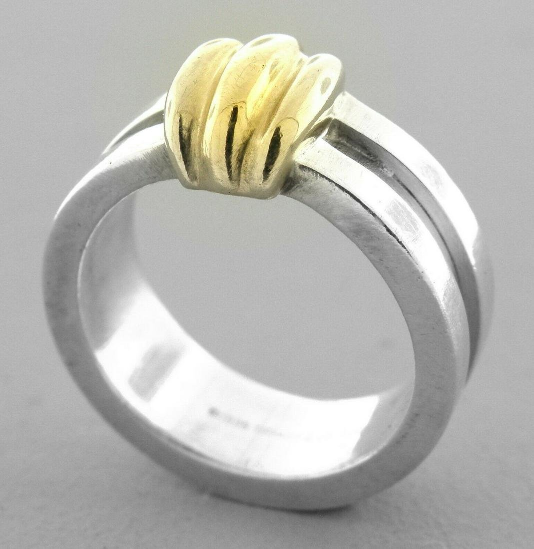 TIFFANY & Co. 18K GOLD STERLING SILVER LADIES RING